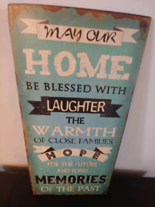 Chabby Chic Rustic Metal Picture with Sentimental Saying.