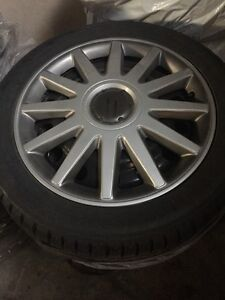 Winter tires on rims for sale.  Kingston Kingston Area image 1