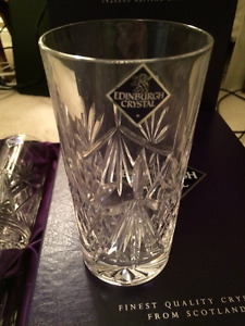 8 Edinburgh Crystal Highball Tumblers New in Boxes