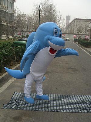 New blue Dolphin Mascot Costume Fancy Dress Adult Suit Size - Dolphin Fancy Dress Costume