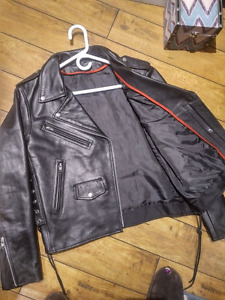 Womens leather motorcycle jacket- 300 obo