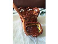 Two Piece Handmade Cart Basket Set