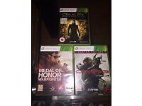 Medal of Honor, crysis 3 & deus ex Xbox 360 games