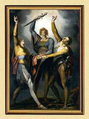 JOHANN H. FÜSSLI HENRY FUSELI RÜTLISCHWUR EID SCHWEIZER Maler 1 im Goldrahmen