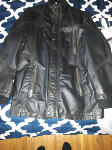 DANIER LARGE LEATHER JACKET MENS WINTER THINSULATE