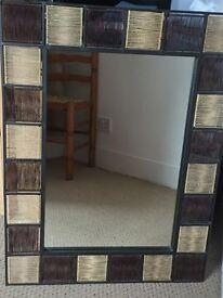 Beautiful wicker mirror