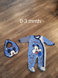 Boys clothing lot size 0-3 months