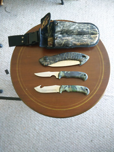 Hunting Knife Set Brand New Never Used