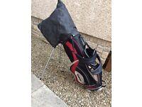 Wilson golf clubs and bag