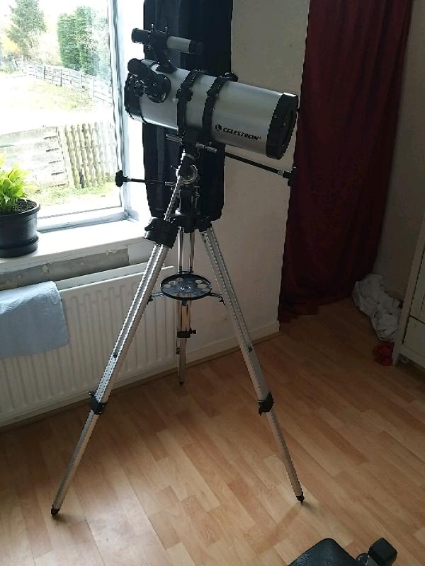 how to set up celestron telescope