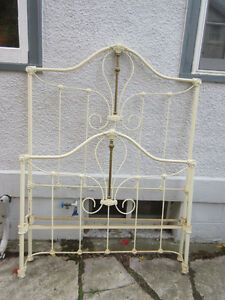 Fabulous Antique (c1900) Brass & Iron Bed