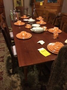 Gorgeous antique cherry harvest table SALE London Ontario image 1