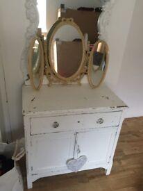 Shabby chic dresser with mirror