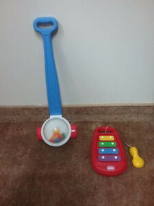 Fisher Price pushable corn popper and xylophone.