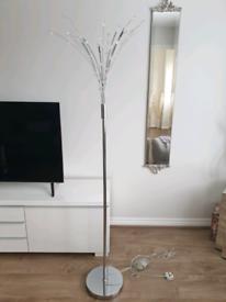 5 bulb dimmable chrome floor lamp