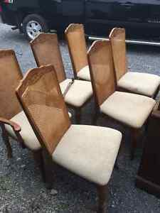 6- Cane Back Chairs Cornwall Ontario image 1