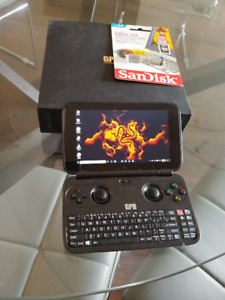 GPD Win handheld gaming PC with extras