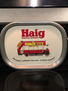 HAIG SCOTCH WHISKY VINTAGE ADVERTISING BAR TRAY $45
