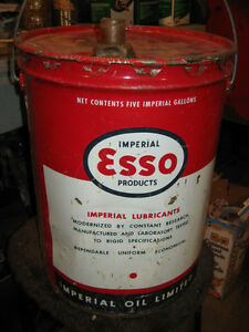 Esso Marvelube 5 Gallon Oil Pail Regina Regina Area image 4