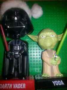 funko 2008 star wars yoda and darth vader holiday bobbleheads