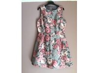 Grey and Rose dress from Warehouse