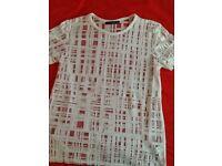 White T shirt size 10
