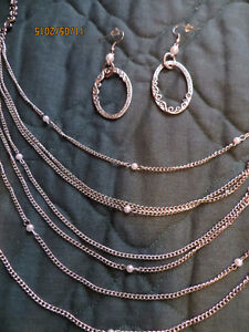 Multi-strand NECKLACE with matching EARRINGS Windsor Region Ontario image 2