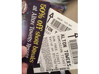 Alton towers x6 tickets for this Saturday! 1s October 2016