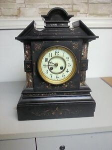 French slate/granite mantle clock - NEW PRICE London Ontario image 1