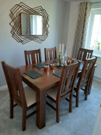 Dining table and 6 x chairs FULL SET