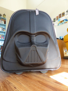 Darth Vader 2-wheel rolling bag with light up wheels