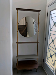 West elm modern entry mirror  and coat hook