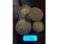 49 grams of silver coins