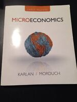 Karlan Morduch Microeconomics Textbook for MacEwan ECON 101