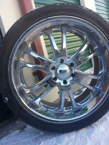 3 rims with 3 tires