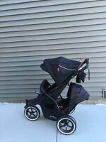Phil & Teds navigator 2015 DOUBLE jogging stroller new condition