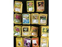 Pokemon cards (includes some rare cards).