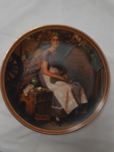 """Knowles Ltd. Ed."""" Dreaming in the Attic"""" Norman Rockwell plate"""