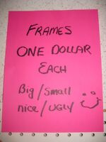 Picture Frames Are $1.00 Each