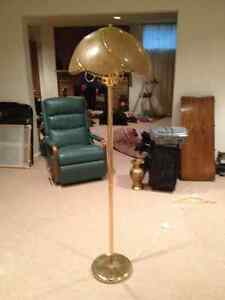 Floor Lamp and Matching Ceiling Swag Fixture