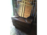 SHED CLEARANCE - Vintage dressing tables, tv unit, tiles, exercise bike and more