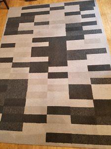 Modern Area rug-low profile. All shades of grey
