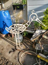 Free standing garden bird ornament