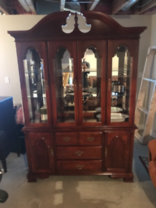 Stanley China cabinet and assorted pieces
