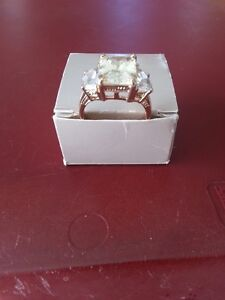 Cubic Zirconium Ring – size 10 - from estate