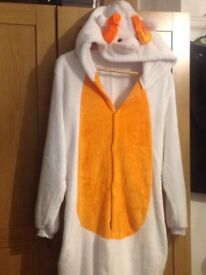 Adult sheep sleep suit/fancy dress costume