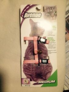 New Avenue Brand Pink Cat Harness for Medium Size Cats