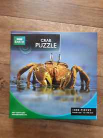 BBC earth crab jigsaw puzzle 1000 pieces.