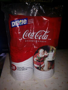 Dixie Coke Santa cups, Unopenned package.