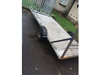 Quad and bike trailer big enough for 2 quads need gone asap with fold down ramp